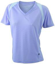 Women' Running-T T-shirt collo a V 100% poliestere traspirante. Tessuto leggero