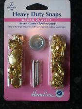 Hemline Heavy Duty Snaps - Gold
