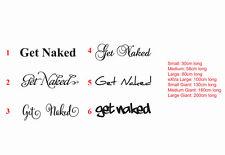 Get Naked Bathtub / Bathroom Wall Window Decal Sticker Removable