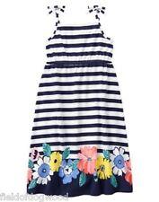 NWT Gymboree TROPICAL BREEZE Striped Floral Midi Dress Size 4 5 6 Girls