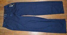 Apt 9 Jeans Trouser Straight Through Hip & Thigh Relaxed Leg Openings Dark Denim