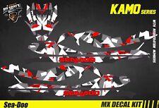 Kit Déco pour / Decal Kit for Jet Ski Sea-Doo Gti/Gtr/Gts/Wake - Kamo Red