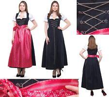 Du long maxi 3 Pcs Set T 38 - 60 Noir Rouge Costumes Robe Oktoberfest 9040