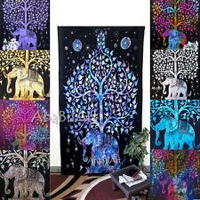 simple arbre de vie Tapisserie éléphant indien boho hippie couvre-lit décor