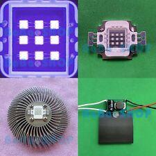 10W UV Full Spectrum LED Lamp Light Bulb + DC Driver + Heat Sink Aquarium Plant