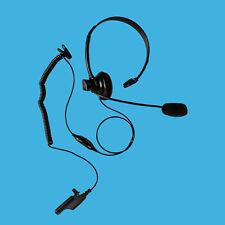 Over the Head Single Muff  Earphone PTT Mic for Motorola GP900 MTX838 MTX1000