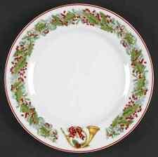 Vista Alegre CHRISTMAS MAGIC French Horn Dessert Pie Plate 8024829