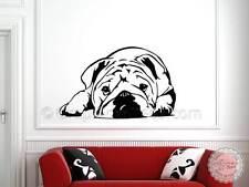 BRITISH BULLDOG CUCCIOLO Wall Sticker, Inglese Bulldog Adesivo, Adesivo con cucciolo