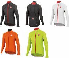 Castelli Velo Jacket Fahrrad-Wind/Regenjacke Schwarz/Weiß/Gelb - 4514026