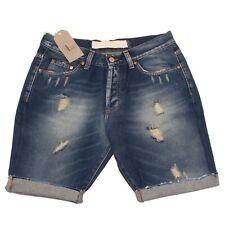 9663P bermuda uomo MINIMAL blu denim pantalone corto short men