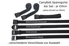 CarryBelt Spanngurt 4er Set mit versch. Verschlüssen - Fahrradsicherung - KFZ