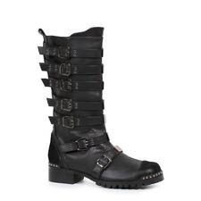 Black Burner Mad Max Road Warrior Motorcycle Gang Costume Boots Mens size 11 12
