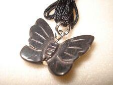 Natural Healing Hematite Gemstone Butterfly Necklace