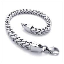 Edelstahl Armband Armkette vierkant Silber breit Schmuck matt glanz Biker Herren