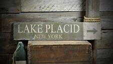 Custom Lake Placid New York Sign - Rustic Hand Made Vintage Wooden ENS1000566