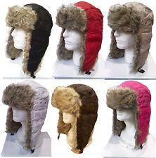Winter Trooper TRAPPER Ski Hat Men's Faux Fur Hat cap-Soft Warm Aviator 2