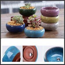 Ice-Crack Glaze Flower Ceramic Succulent Plant Mini Pot Garden Flowerpot Outdoor