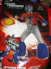 Transformers OPTIMUS PRIME Child DELUXE COSTUME M 7-8 NEW Medium 3-D Chest MASK