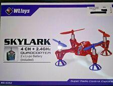 WLToys V252 Skylark Quadcopter Gift Drone 2.4GHz 4 CH RTF RC Li-Po Battery Fly