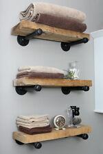 Industrial Pipe Shelf Brackets Pair Heavy Duty Iron Shelf Support High Quality