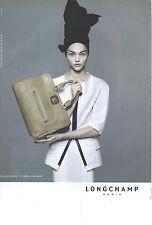 PUBLICITE ADVERTISING  2010  LONGCHAMP sacs bagages