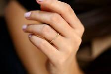 Diamant Memory Ring 18 Brillanten 0,12 Carat in 585er 14 K Gold IGL Wert 800€