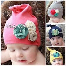 Baby Kids Boy girls Cute cotton floral Owl Boy Girl Beanie Hat Cap 7mths-2.5yrs