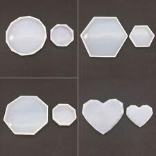 Silicone Mold Hexagon Heart Octagon Shape Crystal Epoxy Resin Molds DIY Making