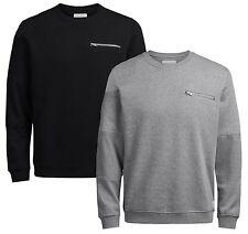 JACK & JONES Men's Crew Neck Plain Sweatshirt Pete Urban Casual Sweat Top Jumper