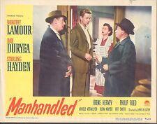 1949 MOVIE LOBBY CARD #3-982 - MANHANDLED - DOROTHY LAMOUR