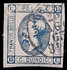 REGNO 1863 - 15 c. LITOGRAFICO n.13 VARIETA' STAMPA, RARO, CERT. BOTTACCHI