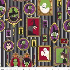 Tela de Halloween Brujas murciélagos fantasmas Negro FQ Medio Metro o Metros 100% algodón