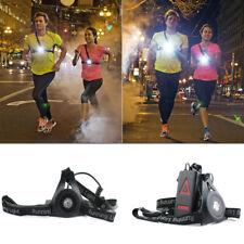 Night Outdoor Running Light LED Chest Back Warn Lamp Jogging Bright Flashlight