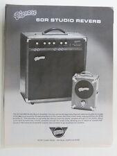 retro magazine advert 1980 PIGNOSE 60R studio reverb