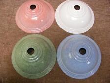 """deco bakelite ,ornate coolie light shade,white,pink,green,blue,8-1/4"""" diameter"""