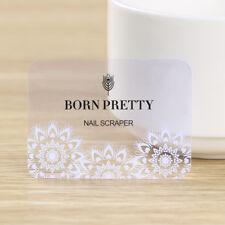 Christmas Nail Art Stamping Scraper Snowflake Transparent Stamp Card BORN PRETTY