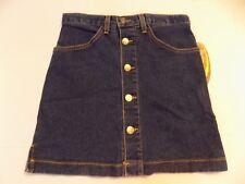 New Dr Doc Martens Denim Blue Jean Skirt Buttons Air Wair Skater Old Stock Jr