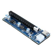 USB 3.0 PCI-E Express 1x 16x Extender Riser Card Adapter 15Pin-6Pin Power Cable