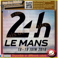 Sticker autocollant 24 heures du mans 24h juin 2016 le mans decal ...