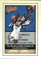 2002 Fleer Authentix WNBA Basketball - Choose Your Cards