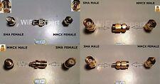 SMA Male / Female To MMCX Male / Female Jack Plug COAX RF Connector Adapter US