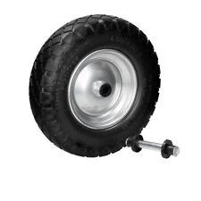 "15"" Wheelbarrow wheel spare tire solid rubber black 1-4pc PU Ø39cm 4.80/4 4.00-8"