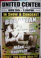Mark Knopfler Autogramm Dire Straits Bob Dylan Poster signiert
