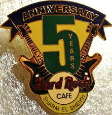 "Hard Rock Cafe SHARM EL SHEIKH 2003 5th Anniversary PIN Guitars & ""5"" HRC #19932"