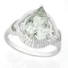 Damen Ring Oda, 925er Silber, 2,36 Kt. echter Grüner Amethyst/Diamant