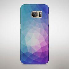 Patrón de color se desvaneció triángulo Ondulado Azul Púrpura formas de la pirámide Cubierta Estuche Teléfono