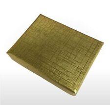 Caja de Regalo Placa de plata u oro de dos piezas con relleno de algodón blanco 51 X 38 X 16 mm