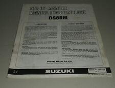 Montageanleitung Suzuki DS 80 Stand 08/1990