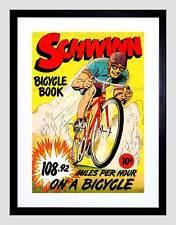 LIBRO fumetti Schwinn Bicicletta Bici Speed Record Corsa USA Framed Art Print b12x3304