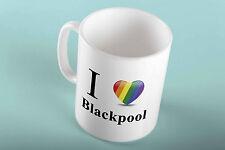 I Heart Love Blackpool Manchester Brighton Pride Gay Lesbian Mug for Coffee Tea